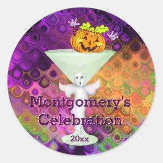 Halloween Happy Pumpkin Cocktail Party Classic Round Sticker