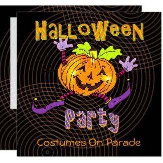 Halloween Happy Pumpkin Costume Party Invitation