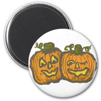Halloween Happy Pumpkin Customizable Products 2 Inch Round Magnet