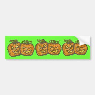 Halloween Happy Pumpkin Customizable Products Bumper Sticker