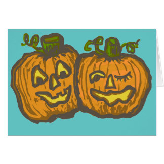 Halloween Happy Pumpkin Customizable Products Greeting Card