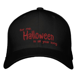 Halloween hat embroidered hats