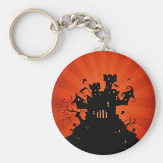 Halloween Haunted Castle Keychain