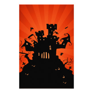 Halloween Haunted Castle Stationery