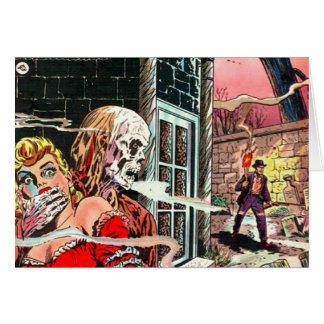 Halloween Haunted Comic Book Card