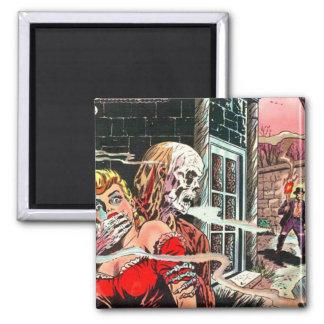 Halloween Haunted Comic Book Magnet