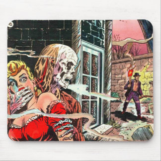 Halloween Haunted Comic Book Mouse Pad