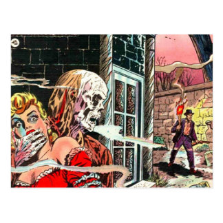 Halloween Haunted Comic Book Postcard