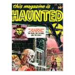 Halloween Haunted Comic Book Postcards
