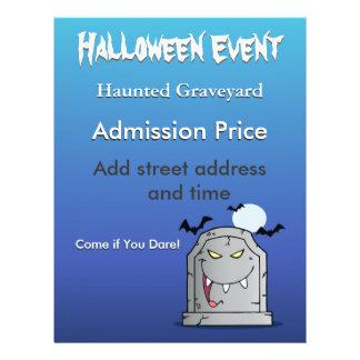 Halloween Haunted Graveyard Flyer