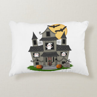 Halloween Haunted House Accent Pillow