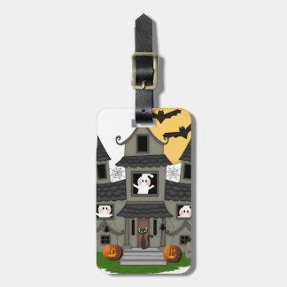 Halloween Haunted House Bag Tag