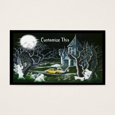 Professional Business Halloween,haunted house,business card