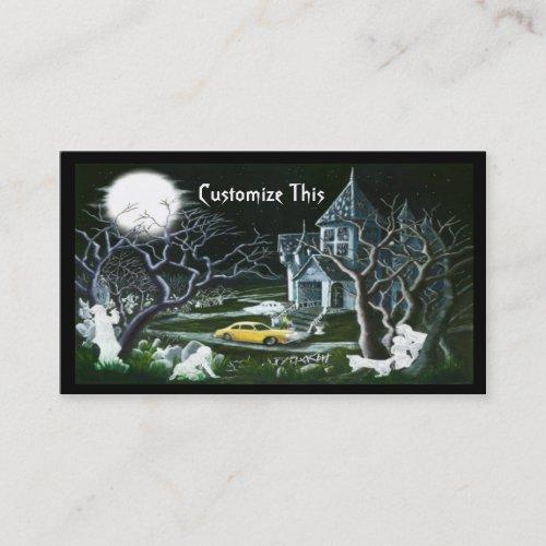 Halloweenhaunted housebusiness card