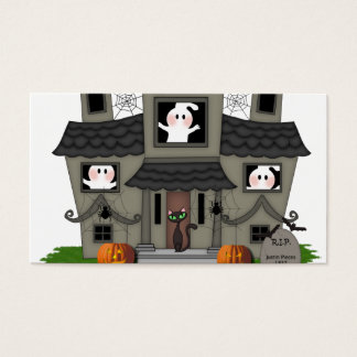 Halloween Haunted House Business Card