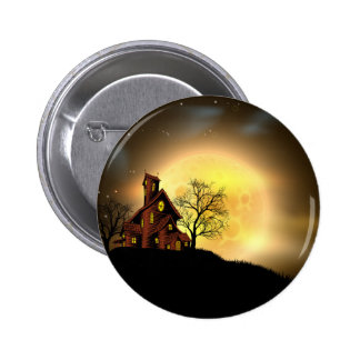 Halloween haunted house pinback buttons