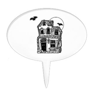 Halloween Haunted House Cake Toppers