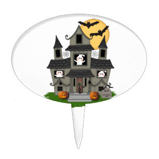 Halloween Haunted House Cake Topper