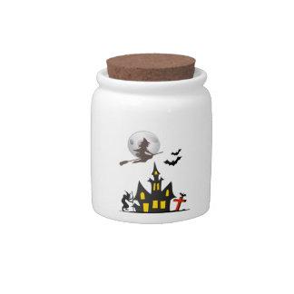 Halloween Haunted House Candy Jar