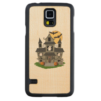 Halloween Haunted House Carved® Maple Galaxy S5 Slim Case