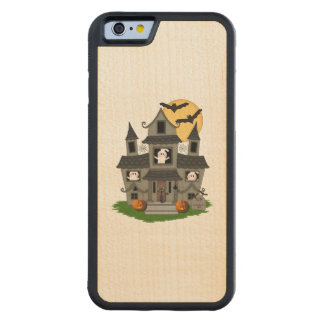 Halloween Haunted House Carved® Maple iPhone 6 Bumper