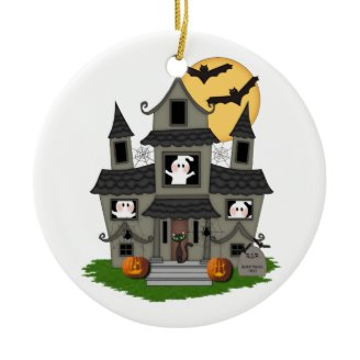 Halloween Haunted House Christmas Ornament