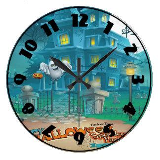 Halloween Haunted House Clock