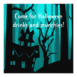 Halloween Haunted House Costume Party Card