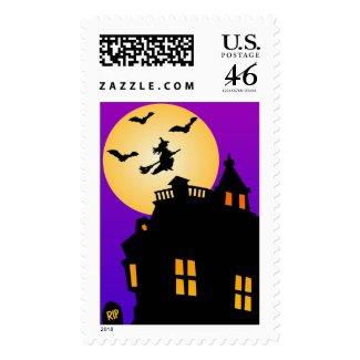 Halloween Haunted House Custom Postage stamp