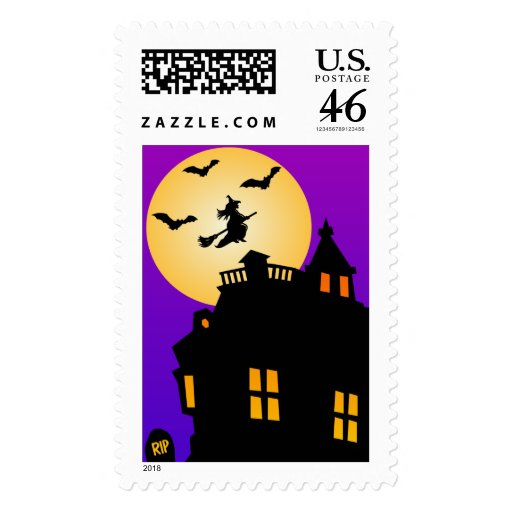 Halloween Haunted House Custom Postage