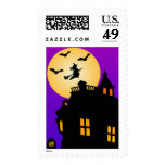 Halloween Haunted House Custom Postage