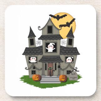 Halloween Haunted House Drink Coaster