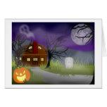 Halloween Haunted House Fog Greeting Cards