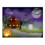 Halloween Haunted House Fog Postcards