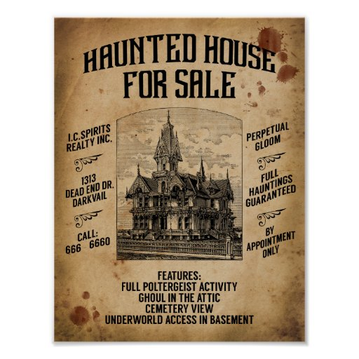 Haunted House Browser Game: Halloween Haunted House For Sale Poster