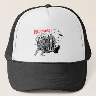 Halloween Haunted House Hat/Cap Trucker Hat