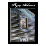 Halloween Haunted House invitation or card