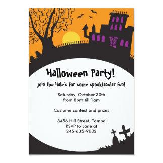 Halloween haunted house invitations