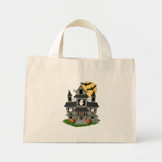Halloween Haunted House Mini Tote Bag