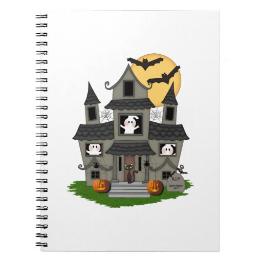 Halloween Haunted House Notebook