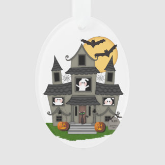Halloween Haunted House Ornament