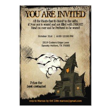 jfarrell12 Halloween Haunted House Party Invitations