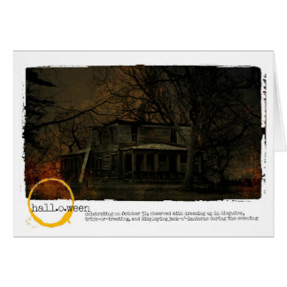 Halloween Haunted House photograph Card