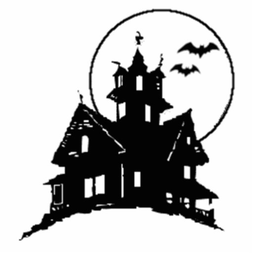 Halloween Haunted House Photo Cut Out
