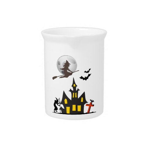 Halloween Haunted House Pitcher
