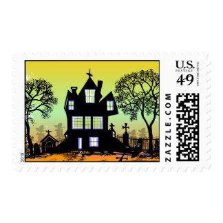 Halloween Haunted House Postage