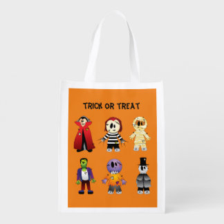 Halloween Haunted House Reusable Grocery Bag