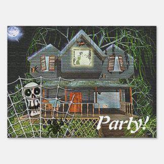 Halloween Haunted House Sign