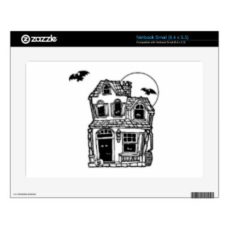 Halloween Haunted House Decals For Netbooks