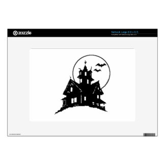 Halloween Haunted House Decals For Large Netbooks